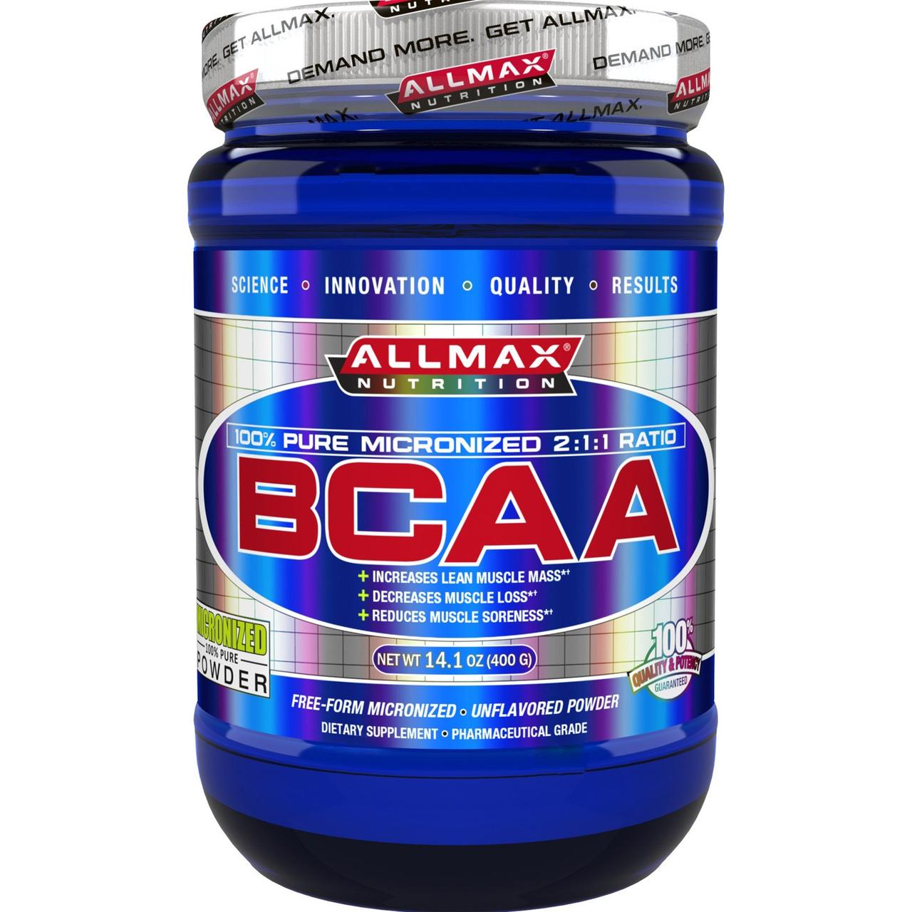 All Max Nutrition BCAA 400 g unflavoured, Олл Макс БЦАА 400 г
