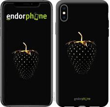 """Чехол на iPhone XS Max Черная клубника """"3585c-1557-851"""""""
