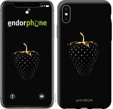 """Чехол на iPhone XS Черная клубника """"3585c-1583-851"""""""