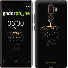"""Чехол на Nokia 7 Plus Черная клубника """"3585u-1354-851"""""""