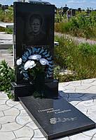 Гранитный памятник 100х50х5 с надгробной плитой