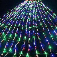 Гирлянда штора 3x3 м 300 LED желтый, зеленый, синий, красный, фото 2