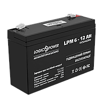 Аккумулятор AGM  LPM 6-12 AH ТМ Logicpower
