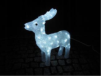 Новогодняя акриловая статуя оленень средний RENIFER, Светящиеся новогодние олени 60 LED, фото 2