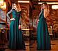 """Елегантне довге вечірнє плаття 309 """"Креп Максі Спина Рукава Гіпюр"""" в кольорах, фото 4"""