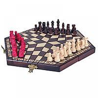 Шахматы деревянные для троих игроков, С-163 Madon средние