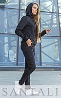 Женский спортивный ангоровый костюм с капюшоном liv4505477