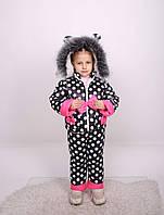 Комбинезон детский зимний Костюм для девочки Детский зимний комбинезон для девочки Новинка модель 2019 г