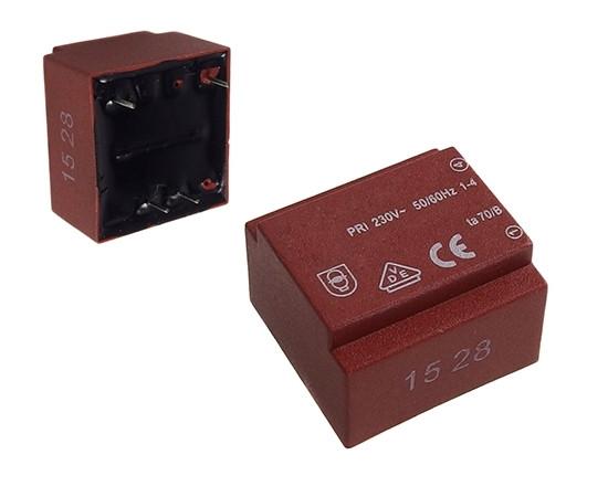 Трансформатор залитый 1.5VA 230V/9V 167mA 70°C TR Z01.50/09b II