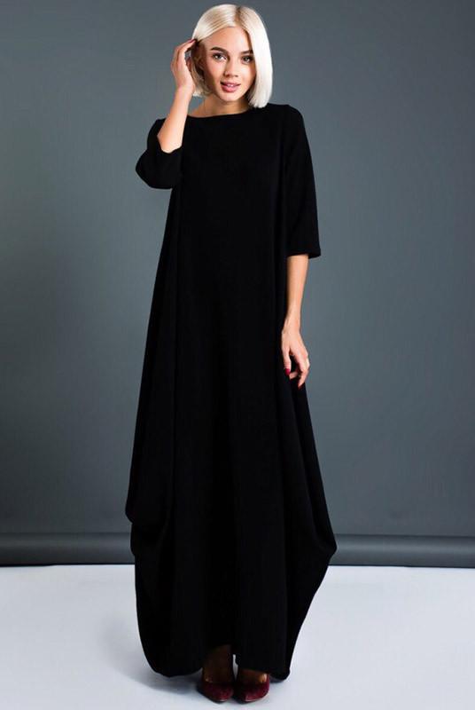 Молодежные стильные платья Пальмира, черный