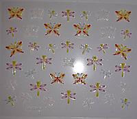 Наклейки - слайдеры  - 3д цветы.