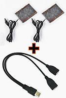 Нагревательные элементы в перчатки / одежду с питанием от USB до 50 градусов №3 - 2 X 8*6 см, ламинат, USB