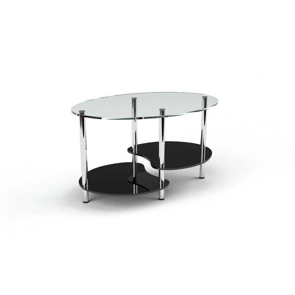 Журнальний кофейний столик зі скла у вітальню Хела-1 БЦ-стол