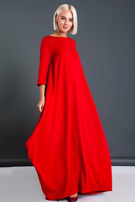 Довга червона сукня Пальміра