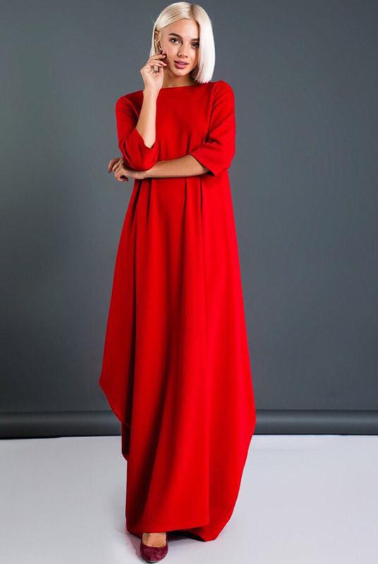 7a3e308f966 Длинное красное платье Пальмира