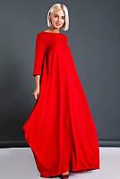 Красное свободное платье Пальмира, большого размера