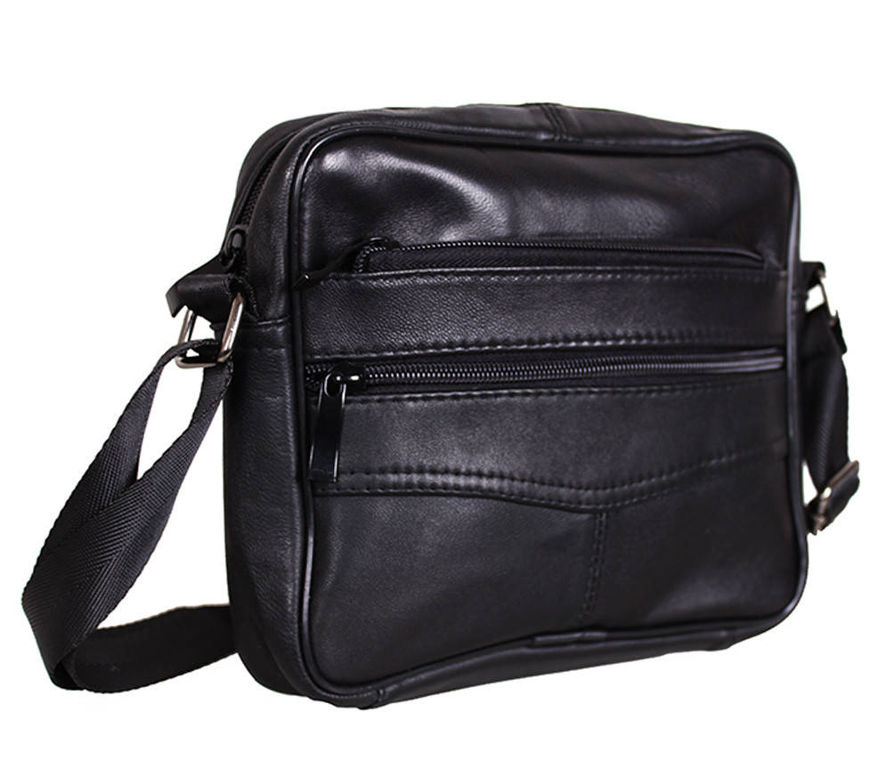 Мужская кожаная сумка Dovhani  SW275 Черная