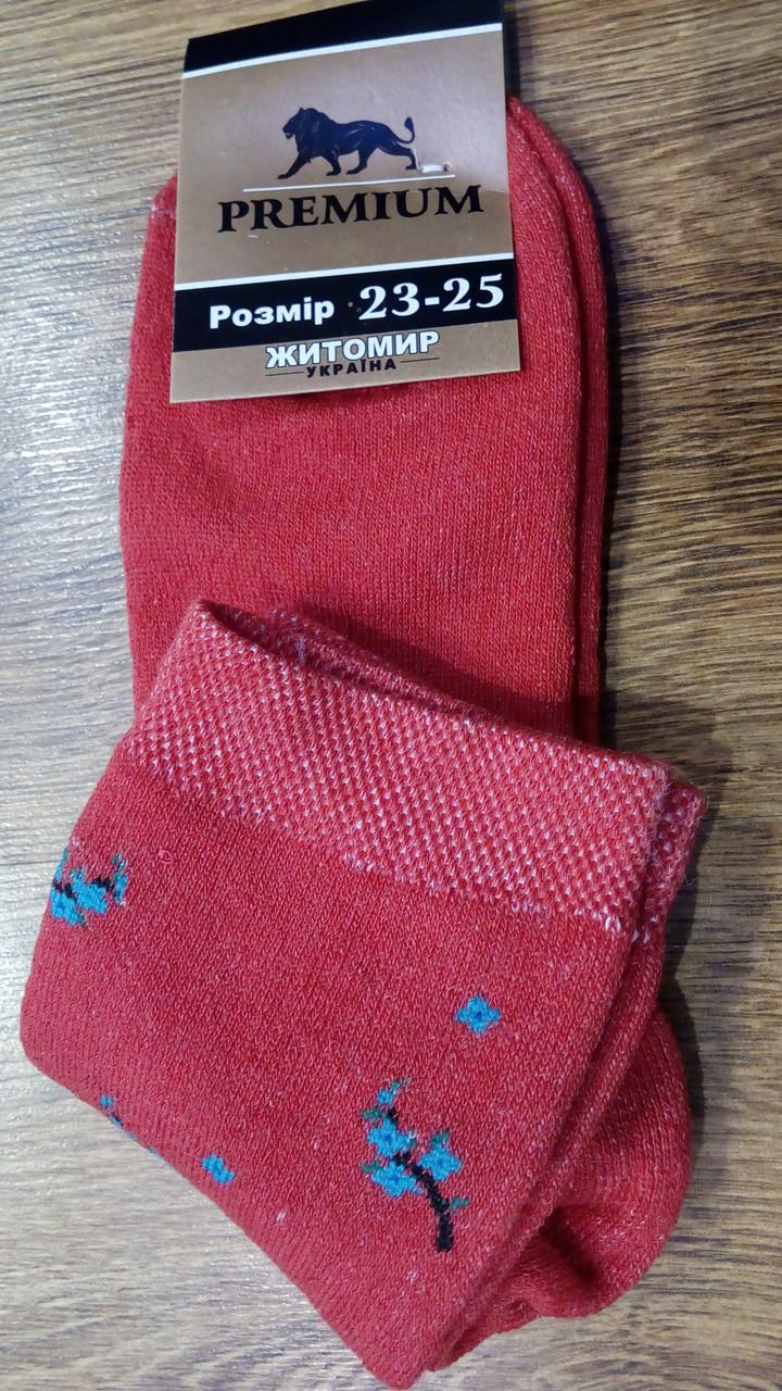 """Жіночі махрові шкарпетки""""Premium Сакура"""""""