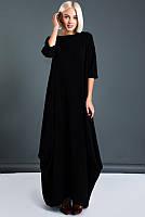 Стильные черные платья Пальмира для полных