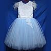 Детское нарядное платье 6-8лет бальное с Перьями