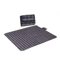 Водонепроницаемый коврик для Пикника Клетка (Зелено-Синий)
