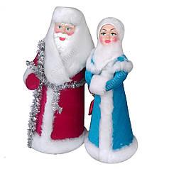 Набор игрушек «Дед Мороз и Снегурочка» под ёлочку