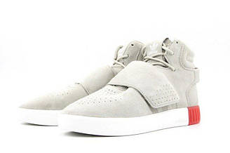 Оригинальные мужские кроссовки Adidas Originals Tubular Invader Strap Sesame/Sesame/Vivid Red BB5035