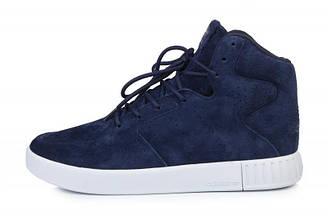 Оригинальные мужские кроссовки Adidas Originals Tubular Invader Strap 2.0 Navy   Адидас синие