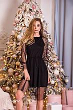 Дуже красиве жіноче плаття нарядне вечірній новорічне сітка+кристал Estilo Diani розміри:42-46
