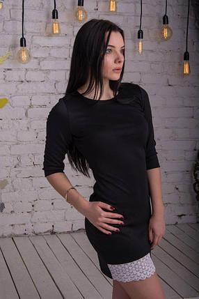 Платье трикотажное с кружевом, фото 2