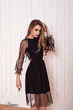 Дуже красиве жіноче плаття нарядне вечірній відкрита спина сітка+микромасло Estilo Diani розміри:42-46