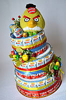 "Торт из Киндер шоколадок и яиц ""Энгри бёрдс"", фото 1"