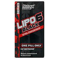Жиросжигатель Nutrex Lipo-6 Black Ultra concentrate, 60 caps (мужская), фото 1