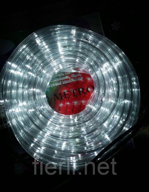 Гирлянда уличная лента светодиодная белая (LED) 10 м. с контроллером