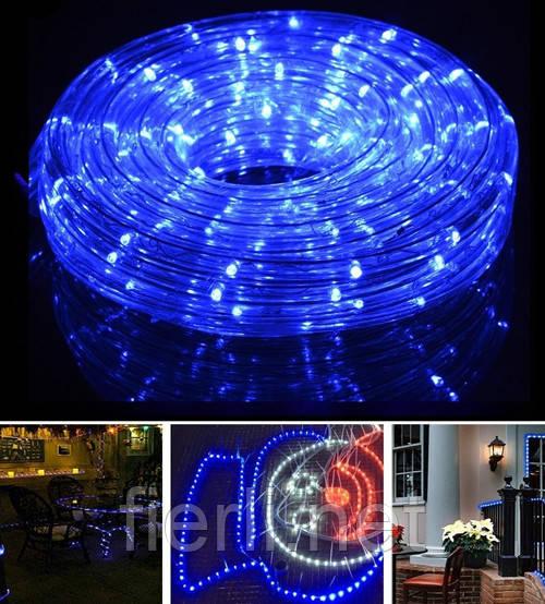 Гирлянда уличная лента светодиодная синяя (LED) 10 м. с контроллером