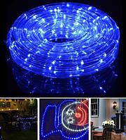 Гирлянда уличная лента светодиодная синяя (LED) 10 м. с контроллером, фото 1