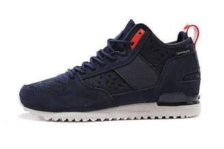 Мужские кроссовки  Adidas Military Trail Runner Army Navy Blue| Адидас милитари синие оригинал