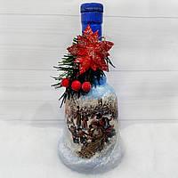 """Новогоднее оформление бутылки """"Колокольчик"""" Подарок на новый год 2019 , фото 1"""