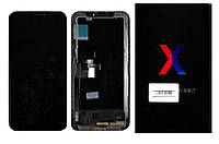 Дисплей (модуль) iPhone X с cенсором Black (оригинал) PRC