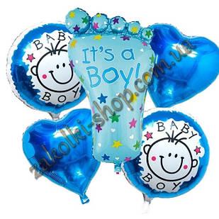 Фольговані кульки набір з 5 куль для хлопчика