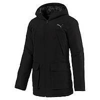 Куртка (парка) мужская Puma warmCELL PAD HD JKT 851608 01 (черная, зимняя, водонепроницаемая, логотип пума)