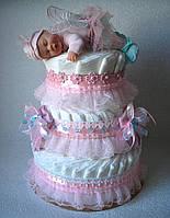 """Торт з памперсів """"Фея"""". 100 штук"""