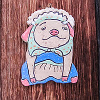 "Плакетка на стіну ""Свинка"" поливана"