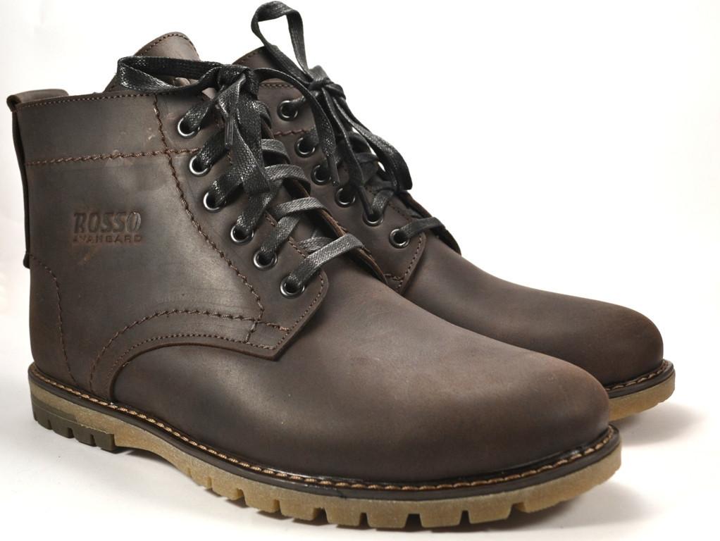 Ботинки коричневые больших размеров мужские зимние кожаные Rosso Avangard BS Falconi Umber Brown