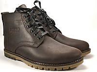 Ботинки коричневые больших размеров мужские зимние кожаные Rosso Avangard BS Falconi Umber Brown, фото 1