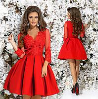 2733d68288b Шикарное праздничное платье гипюр+габардин+фатиновый подьюбник размер 42 44  46