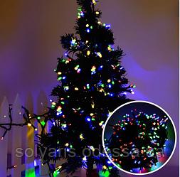Новогодняя гирлянда 5 м (100 лапм) (все цвета кабеля и лампочек)