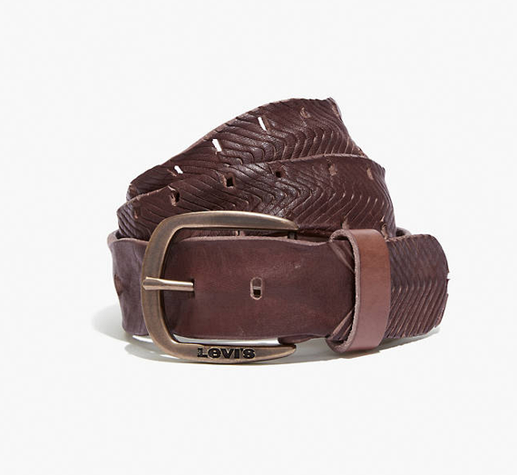 Ремень Levi's® Embroidered Belt - Dark Brown
