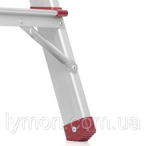 Стремянка DRABEST 4-х ступенчатая двухсторонняя алюминиевая, фото 2