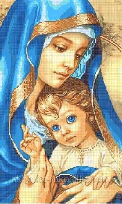 """Схема для вишивки бісером """"Мадонна с младенцем"""" (40х65см) (Золотая рыбка)"""